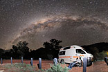 Camping below the milky way - I'm enjoying one of the most beautiful starry skies of the world