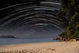 Startrails on Fitzroy Island - Starry sky at the sea